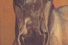 De oude Fries, 40 x 120 cm., olieverf