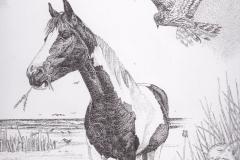 Pentekening Mon Reve - detail - 30 x 30 cm