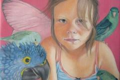 Portret Tamar - Olieverf op doek- 40 x 40 cm