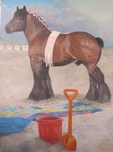 Lifeguard op het strand van Texel 2013 - 90 x 120 cm.