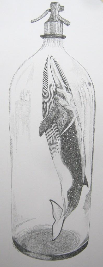 pentekening (2014 ) afmeting 25 x 60 cm. - verkocht