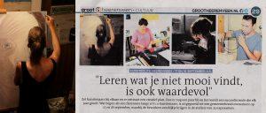 Paginagroot artikel over de organisatie van de Kunstroute in Heerenveen - aug.2016