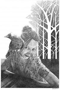 Natural Me - inkt op paier - 50 x 60 cm. bijdrage Kunstagenda 2017