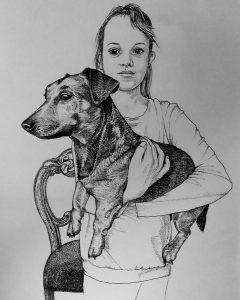 Portret Dione - pentekening