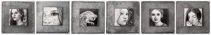 5x5small-art bij TERRATORIUM in Zoetermeer. ( Tekeningetjes van 5 cm. Ingelijst op een ondergrond van 10 cm.)