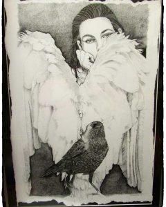 Pentekening 50x70 cm.