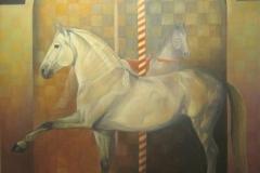 Carrousel, 90 x 120 cm. olieverf