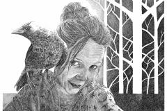 Natural Me - zelfportret- 50 x 60 cm.