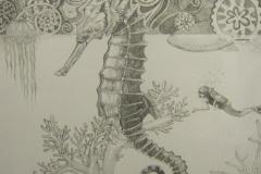 Seahorse - 40 x 60 cm.