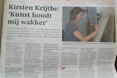 Interview met Jurjen K. van der Hoek in de Heerenveense Courant -  24 juli 2019