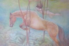 Dive - olieverf op doek - 100 x 120 cm. (2014)