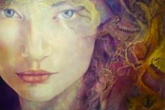 Living colours -olieverf op doek - 110 x 100 cm. 2018