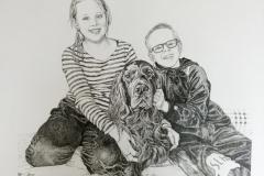 Pentekening familie - 40x50