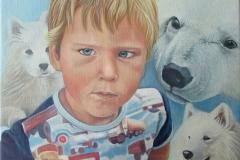 Portret Imre - Olieverf op doek- 40 x 40 cm