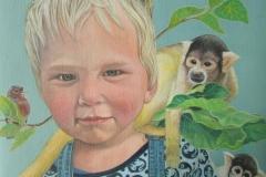 Portret Krijn - Olieverf op doek- 40 x 40 cm