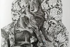 Pentekening Kobus - 20 x 20 cm.