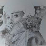 pointillistische pentekening - 50 x 65 cm. - 2020