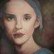 2017 - portret Blue - 100 x 100 cm. olieverf